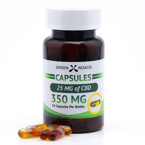 Picture of CBD Capsules 25mg Bottle